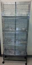 NEW Large CAMBO 4 of Bird Finch Canary Breeding Breeder Cages W/Rolling Stand492