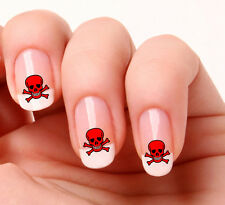 20 Nail Art Decals Transfers Stickers #333 - Skull & Crossbones