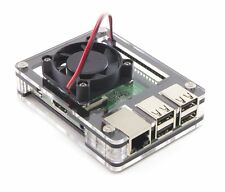 Zebra Black Ice Case ~ for Raspberry Pi 3, Pi 2 and B+ With Fan ~  by C4Labs