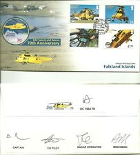 FALKLAND ISLANDS 2011 70TH ANNIV OF RAF SEARCH & RESCUE FLOWN/SIGNED BY CREW FDC