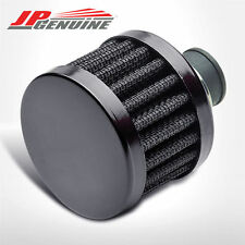 BLACK 9MM CRANKCASE ENGINE OIL TANK AIR INTAKE BREATHER FILTER - UNIVERSAL 3