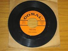 """ROCK+ROLL 45 RPM - STEVE LAWRENCE - CORAL 61792 - """"PARTY DOLL"""""""