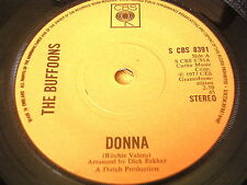 """THE BUFFOONS - DONNA      7"""" VINYL"""