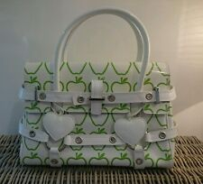 Rare Luella Bartley White Green Apple Patent Leather Giselle tote bag