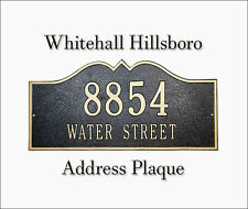 Whitehall Hillsboro Address Plaque Marker Sign Choose from 17 Colors & 2 Mounts