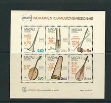 MACAU 1986 MUSICAL INSTRUMENTS souvenir sht (Scott 529a) SUPERB MNH (cat 300.00)