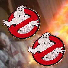 "GHOSTBUSTERS - Pair of 8cm / 3"" Classic Movie Embroidered Iron-On Patches... NEW"