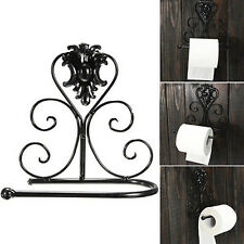 Vintage Iron Toilet Paper Towel Roll Holder Bathroom Wall Mount Rack WB
