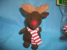 KITTY CAT REINDEER PLUSH TOY PULL RING & IT JITTERS &/OR CHRISTMAS ORNAMENT SPOT