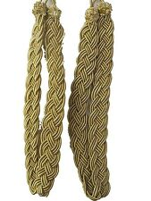 Pair of Gold Rope Curtain Tiebacks
