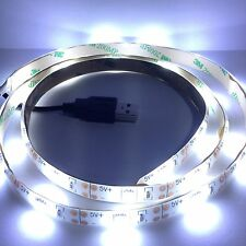 White LED strip light strip 1M USB Cable PC Laptop Notebook Tab TV LCD TV
