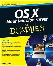 OS X Mountain Lion Server For Dummies