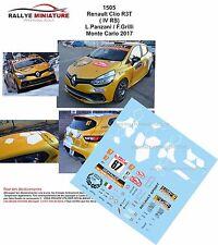 Decals 1/43 réf 1505 Renault Clio R3T L.Panzani / F.Grilli Monte Carlo 2017