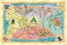 THE WIZARD OF OZ ~ MARVELOUS MAP 24x36 MOVIE POSTER Emerald City Munchkin Land