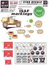 Star Decals 1/35 GENERIC ISAF MARKINGS Afghanistan Peace Keepers