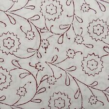 Cotton Voile Fabric Indian Hand Block Print Dressmaking Sewing By The Yd