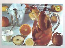 carte postale illustrée la sangria - recette au dos