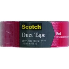"9 Pk 3M 2"" X 60 Yd Scotch Red Cloth Duck Duct Tape 1060-RED-A"