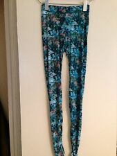 H&M CONSCIOUS TREND DIVIDED FLORAL LEGGINGS / PANTS NWT SIZE 2/32