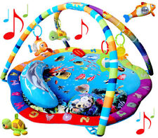 Play Mat Activity Gym Removable Dangle Toys Musical Ocean Sealife Baby Toy