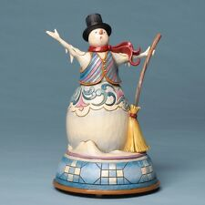 Jim Shore OPEN YOUR HEART TO THE SEASON'S SONG MUSICAL SNOWMAN Figurine 4032485
