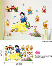 Disney Snow White & Seven Dwarfs Removable Wall Sticker Kids Room Nursery Decal