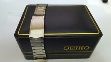 VINTAGE SEIKO 16MM STAINLESS STEEL GENTS WATCH STRAP. (SE-136).