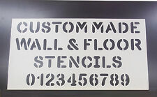 Custom PVC Floor / Wall / Pavement / Doors / Concrete Stencil Signs Airbrush