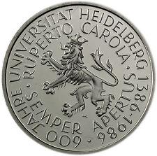 Deutschland 5 DM 1986 Stgl. 600 Jahre Universität in Heidelberg in Münzkapsel