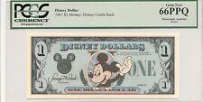 1987 $1 Mickey Disney Dollar PCGS 66PPQ First year Type 2 PROOF VERY RARE no ser
