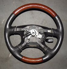 Mitsubishi Montero Limited 2001-2006 Steering Wheel - Woodgrain OEM - Black