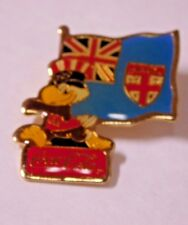 Sam Holding Great Britain Flag Coca-Cola 1984 Sponsor Olympic Pin