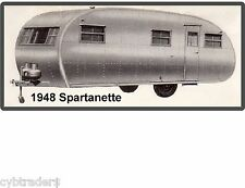 1948 Spartanette Trailer Coach Refrigerator / Tool Box Magnet Gift Card Insert