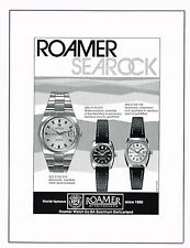 1970's Vintage 1977 Roamer Searock Watch Models - Paper Print AD