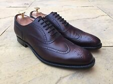 Church's Isham Wing Tip Brogue Shoes Cordovan Brown F Fitting UK 8 BNIB
