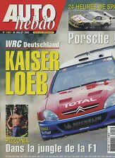 AUTO HEBDO n°1403 du 30 Juillet  2003 24h de SPA WRC ALLEMAGNE AGS F1