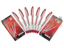 6 x QUALITY RED ROLLERGEL ROLLER GEL INK PENS *FAST*
