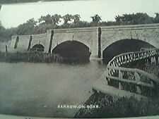 postcard unused old undated r/p barrow on soar bridges