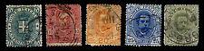 1891-96 ITALY #67-71 KING HUMBERT I - WMK140 - USED - F/VF - CV$27.20 (ESP#1674)