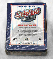 Upper Deck 1991 Final Edition Baseball 100 Cards Sealed Set Team Holograms