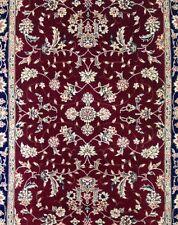 Ravishing Red - Silk Floral Sino Design Rug - Oriental Chinese Carpet - 3 x 5 ft
