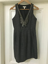 SILENCE + NOISE URBAN OUTFITTERS HERRINGBONE SEQUIN DRESS SIZE 4 UK 8 COST £70