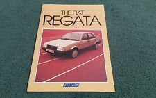 March 1984 FIAT REGATA SALOON - UK BROCHURE