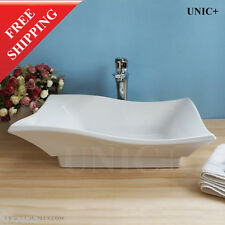Artistic Porcelain Ceramic Bathroom Sink Vessel Basin Top Mount / Drop In BVC003