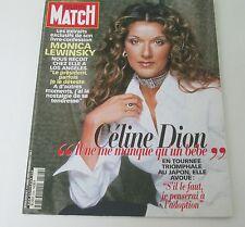 CELINE DION ** PARIS MATCH Magazine ** Vintage Mars 1999'