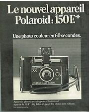 Publicité Advertising 1974 Appareil Photo Polaroid Colorpack 88