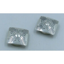 .925 Sterling Silver Southwestern Stamped Concho Nickel Back Cufflink Cufflinks