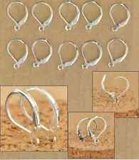 925 Sterling Silver Leverback Earrings Finding Earwire (20 pcs/ 10 Pairs)