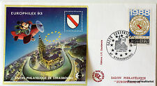 FRANCE MICKEY  BLOC FEUILLET CNEP SUR LETTRE STRASBOURG 1993   N°17 FDC