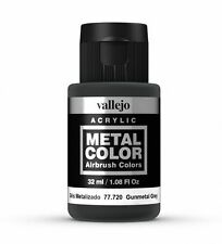 VALLEJO METAL COLORS - AIRBRUSH PAINT - GUN METAL GREY 32ML - 77.720